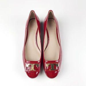 Tory Burch Gigi Patent Leather Block Heel Pumps